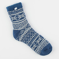 Ugg Fair Isle Womens Fleece Lined Socks Blue Jay One Size For Women 26384120001