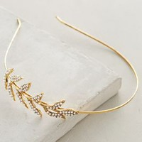 Pearl Leaf Headband by Anthropologie in Gold Size: All Hair