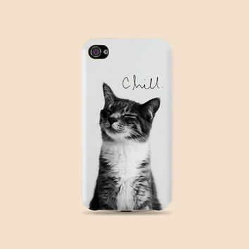 Chilly Kitty Plastic Hard Case - iphone 5 - iphone 4 - iphone 4s - Samsung S3 - Samsung S4 - Samsung Note 2