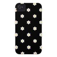 Cute Girly Diasy Flower Pattern iPhone 4/4S Case from Zazzle.com