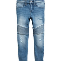 Skinny Fit Biker Jeans - from H&M