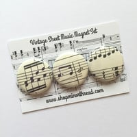 Vintage Sheet Music Magnet Set