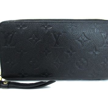 LOUIS VUITTON Zippy Wallet Long Wallet M61864 Monogram Empreinte Noir Black