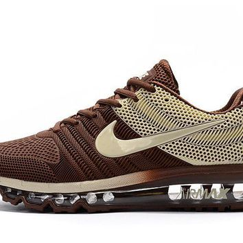Nike Air Max 2017 Kpu Mens Running Shoes Sneakers Trainers Brown Beige - Beauty Ticks