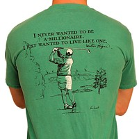 The Millionaire Tee in Grass Green by WM Lamb & Son