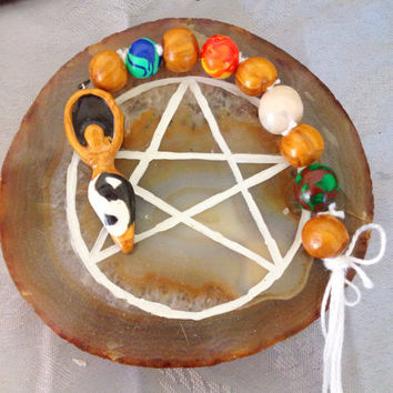 Wicca Pagan Witches' Ladder Yin Yang