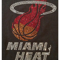 "Rhinestone ""Miami Heat"" T-Shirt"