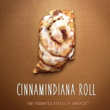 Cinnamindiana Roll Foodnited States Poster