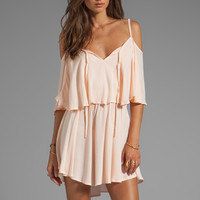Indah Zhina Flounce Top Mini Dress With Interchangeable Top in Petal from REVOLVEclothing.com
