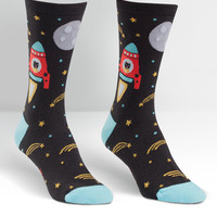 Space Catdet Womens Crew Socks