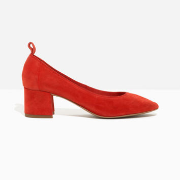 Suede Ballet Pump - Red - Shoes - & Other Stories US