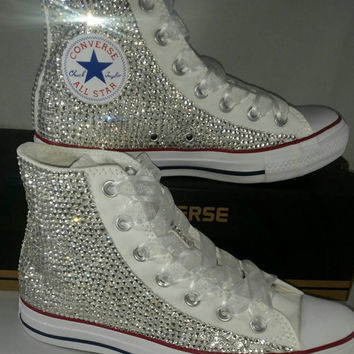 Full Bling Wedding Converse- Bridal Sneakers- Custom Converse Sneakers- Bridal Chuck Taylors- Wedding Sneakers- Converse hochzeit- Bride