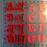 Uppercase Ravi Alphabet Cookie Cutters
