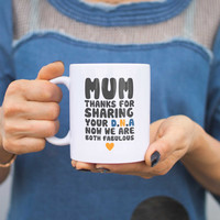 Mum Thanks For Sharing Your DNA Coffee Mug Cup Mothers Day Gifts For Mom