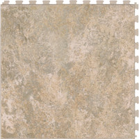 Shop Perfection Floor Tile 6-Piece 20.5-in x 20.5-in Sandstone Slate Garage Floor Tile at Lowes.com