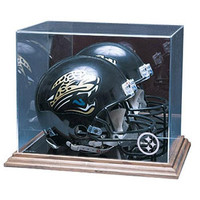 Pittsburgh Steelers NFL Full Size Football Helmet Display Case (Wood Base)