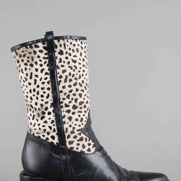 Brighton Calf Hair Leather Western Boots
