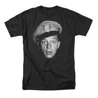 Andy Griffith Show Men's  Barney Head T-shirt Black Rockabilia