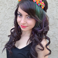 Rainbow Rose Headband #C1024