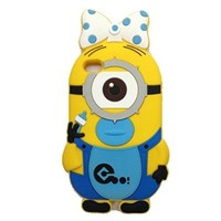 Kate Sister : Iphone 5 and 5s New 3D Minion Baby Despicable Me Silicone Rubber Case