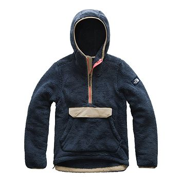 Women's Campshire Sherpa Fleece Pullover Hoodie in Urban Navy & Dune Beige by The North Face
