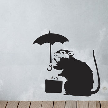 Banksy High and Dry Wall Decals