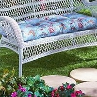 "(1) Outdoor 42"" Sea Life Loveseat Cushion Starfish Fish Seashells Nautical Decor"