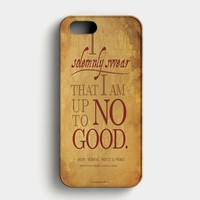Harry Potter Quote  I Solemnly Swear That I Am Up To No Good Black iPhone SE Case