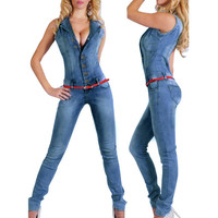 Jumpsuits Jeans Women Jumpsuit Denim Overalls Shirt Rompers Girls Pants Jeans S-XL Bodysuit