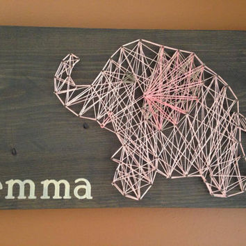 Elephant Nursery String Art