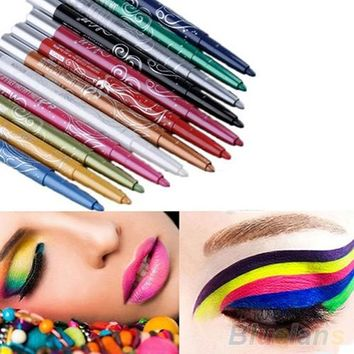 12 Colors Eye Shadow/Lip Liner Pen  Cosmetic Set