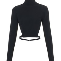 High-neck cut-away back cady top | Mugler | MATCHESFASHION.COM US