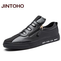 Casual Shoes Spring Autumn PU Leather Zip Slip On Loafers Fashion Breathable Flats Men Shoe Luxury Men Loafers