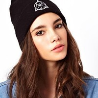 ASOS Symbol Turn Up Beanie at asos.com