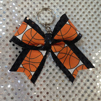 Basketball  bow keychain