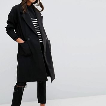 JDY Boyfriend Fit Coat at asos.com