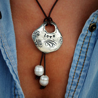Best Handmade Jewelry Gifts for Women, Sterling Silver Necklace by HappyGoLicky