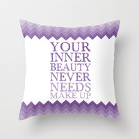 Your Inner Beauty... Throw Pillow by C Designz