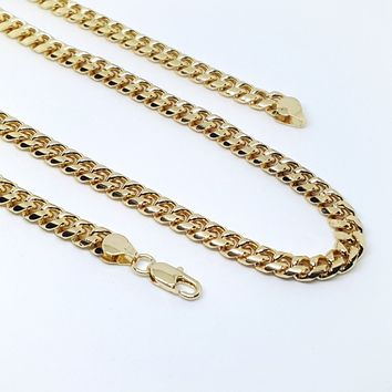 1-1643-g7 Gold Plated Cuban Link Chain.