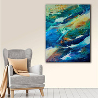 ArtWall Trish Mckinney's Living Water, Gallery Wrapped Canvas | Overstock.com Shopping - The Best Deals on Gallery Wrapped Canvas