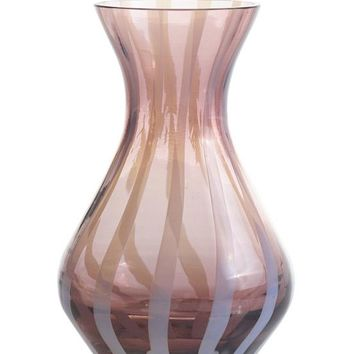 """Twilly Striped Glass Bud Vase in Pink - 4"""" Tall"""