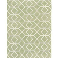 Safavieh Safavieh Hand-woven Moroccan Dhurrie Sage/ Ivory Wool Rug (6 x 9 ) from Overstock.com | BHG.com Shop