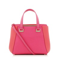 Geranium Soft Smooth Leather and Pink Grainy Leather Tote Bag | Alfie | Cruise 15 | Jimmy Choo Bags