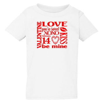 Be Mine Valentine Toddler Shirt - Valentine's Day Toddler Shirt - Kid's Valentine's Day Shirt
