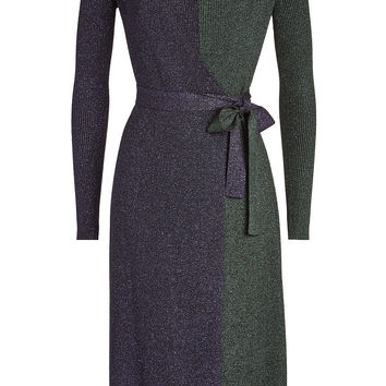 Wrap Dress with Merino Wool - Diane von Furstenberg | WOMEN | KR STYLEBOP.COM