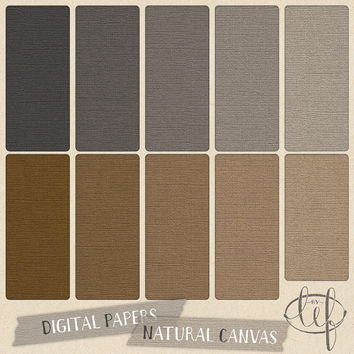 Canvas Digital Papers. Rustic Natural linen backgrounds. Textured cardstock for graphic design, cards and wedding invitations, scrapbooking
