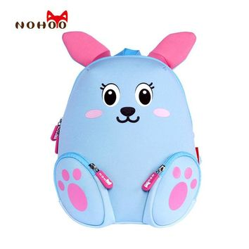 Toddler Backpack class NOHOO Kid Backpack Little Kids Children's School Bags Backpacks 3D Cartoon Rabbit Small Backpack Toddler Baby Girls School Bag AT_50_3