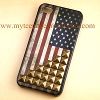 Studded iPhone 4 Case Vintage Flags iPhone 4s by MyTeenageDream