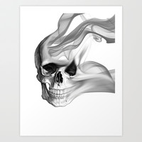 Smokin Skull Art Print by NKlein Design