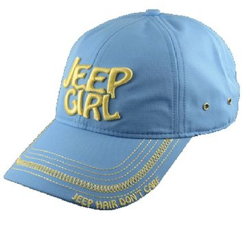 Jeep Girl Light Blue Cap